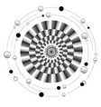 mandala of motion vector image vector image