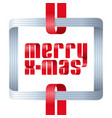 merry christmas celebration typography background vector image vector image