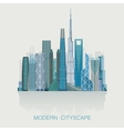modern detailed skyline cityscape isolated City vector image