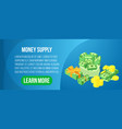 money supply concept banner isometric style vector image