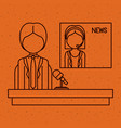 news woman and man presenter design vector image vector image