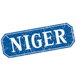 Niger blue square grunge retro style sign vector image vector image