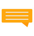 orange chat bubble icon flat style vector image