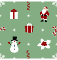 pattern with snowman vector image vector image