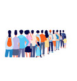 people standing in line isolated crowd queue vector image vector image
