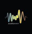 rainbow pulse player logo vector image vector image