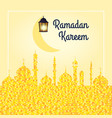 ramadan kareem background with vector image