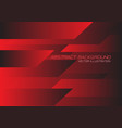 red black speed geometric technology vector image vector image