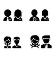 restroom toilet wc icon set vector image