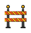roadblock road sign icon image vector image vector image