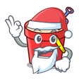 santa sand bucket mascot cartoon vector image