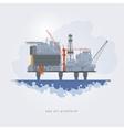 Sea oil platform vector image vector image