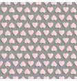 Seamless background with paper hearts vector image