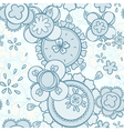 seamless pattern abstract floral design vector image vector image