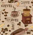 Seamless pattern of coffee vector image