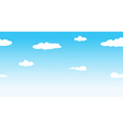 Seamless sky at daytime vector image vector image