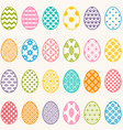 set colorful eggs for easter vector image vector image
