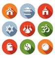Set of Religion Icons Catholic Buddhism vector image vector image