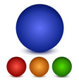 shaded spheres vector image