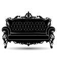 silhouette of sofa vector image vector image