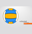 silhouette volleyball ball vector image