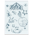 sketch space themed vector image