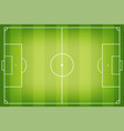 soccer field football pitch fields in top vector image