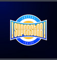 sport emblem typography super star hero logotype vector image vector image