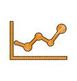 statistics diagram pictogram vector image vector image