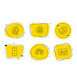 swipe up tractor and pie chart icons set vector image vector image