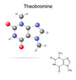 Theobromine molecule vector image vector image