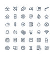 thin line icons set with home smart house vector image vector image