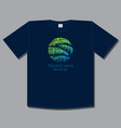 tropical print t shirt palm leaves travel vector image vector image