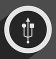 usb icon vector image vector image