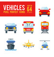 vehicle and transport flat icon pixel perfect vector image