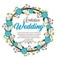 wedding invitation floral frame vector image vector image