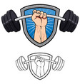 weightlifting gym mascot vector image