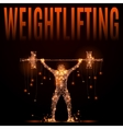 wheightlifting poly in motion vector image vector image