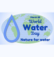 world water day theme greeting card or banner a vector image vector image