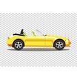 yellow modern cartoon colored cabriolet car vector image vector image