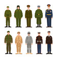 collection of russian and american military people vector image