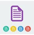 document flat circle icon vector image