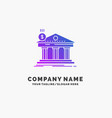 architecture bank banking building federal purple vector image vector image