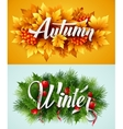 Auyumn and Winter Typographic Banner vector image vector image