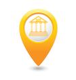 bank icon yellow pointer vector image vector image