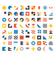 bauhaus elements modern geometric abstract shapes vector image
