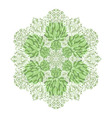 Beautiful ethnic green ornament vector image vector image