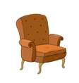Beautiful vintage brown chair vector image