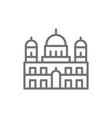 berlin cathedral landmark german line icon vector image