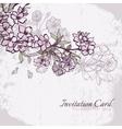 Blossom cherry or sakura wedding invitation card vector image vector image